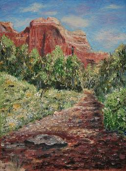 Sedona Hiking Trail by Stanton Allaben