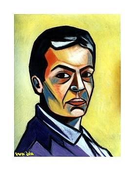 Self portrait by Adel Jarbou