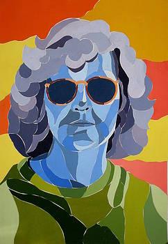 Self Portrait in Blue by Darla Brock