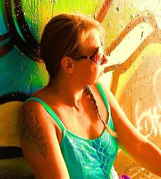 Cindy Nunn - Self Portrait in Neon