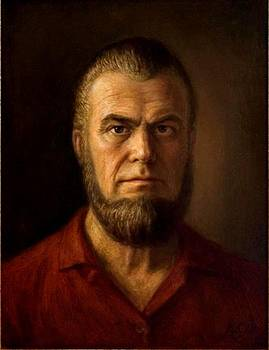 Self Portrait in red shirt by Dionisii Donchev