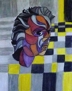 Self Potrait by Sarojit Mazumdar