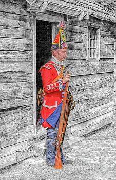 Sentry Duty Fort Ligonier by Randy Steele
