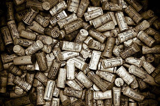 Sepia Wine Corks by Frank Tschakert