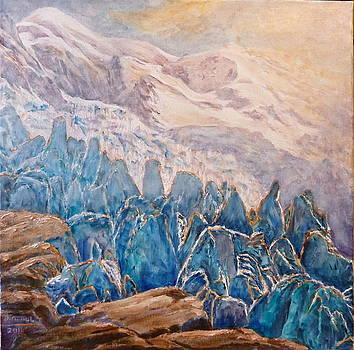 seracs e Mont blanc by Danielle Arnal