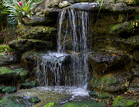 Serenity waterfall 1 by John Stuart Webbstock