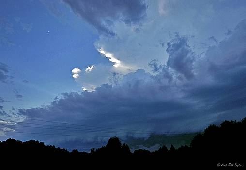 Severe Weather And Waxing Crescent Moon by Matt Taylor