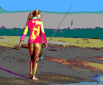 Sexy Lady Going Fishing by Charles Shoup