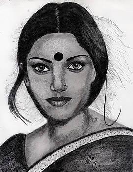 Shabana Azmi by Bobby Dar