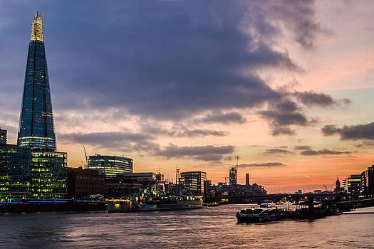 Shard Sunset by James Evans