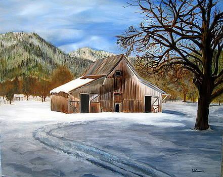 Shasta Winter Barn by LaVonne Hand