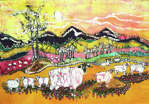 Sheep on Sunny Summer Day by Carol Law Conklin