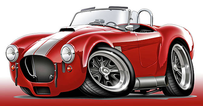 Shelby Cobra Red-White Car by Maddmax