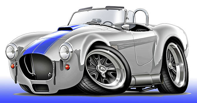 Shelby Cobra White-Blue Car by Maddmax