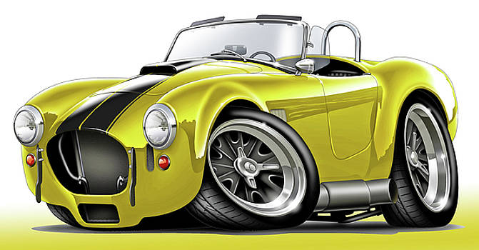 Shelby Cobra Yellow-Black Car by Maddmax