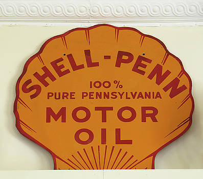 Shell Oil Sign by Dave Mills