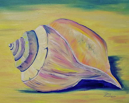Shell on Beach by Tracey Bautista