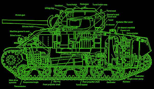 Sherman M4A4 Tank by Robert Geary