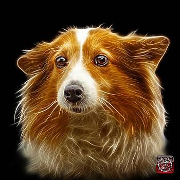Shetland Sheepdog Dog Art 9973 - BB by James Ahn
