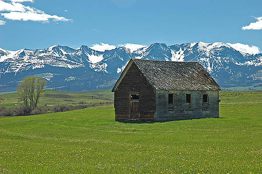 Shields Valley Abandoned Farm Ranch House by Bruce Gourley