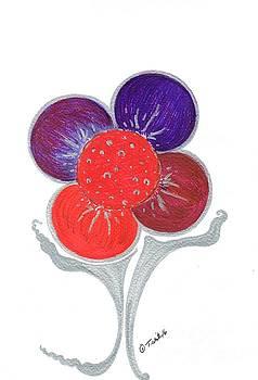 Shining Flower  by Teresa White