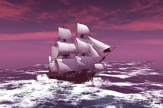 The sailing ship by John Junek