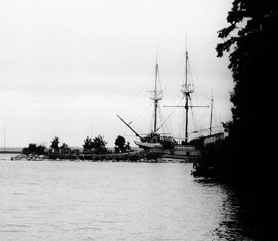 Ship of Colonial Jamestown Virginia by Peggy Leyva Conley