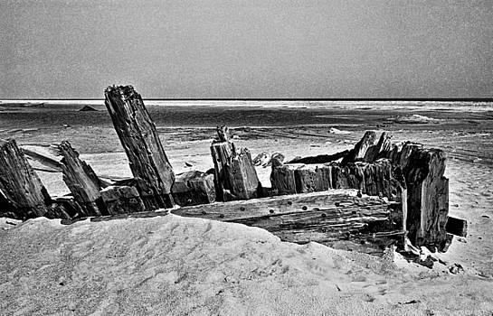 Ship Wreck, Cape Hatteras, North Carolina, 1968 by Wayne Higgs