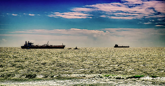 Ships Off The Coast by Joseph Hollingsworth