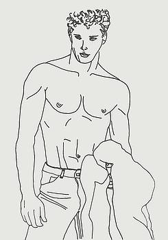 Shirtless Young Male by Sheri Parris