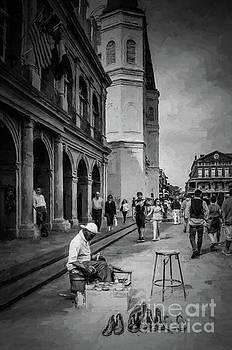Kathleen K Parker - Shoeshine Man in Jackson Square- NOLA