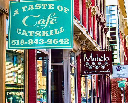 Shop Signs in Main Street Catskill by Nancy de Flon