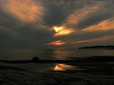 Shoreline Sunset by GJ Blackman