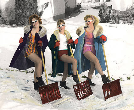 Shoveling Gals by Kelly Povo