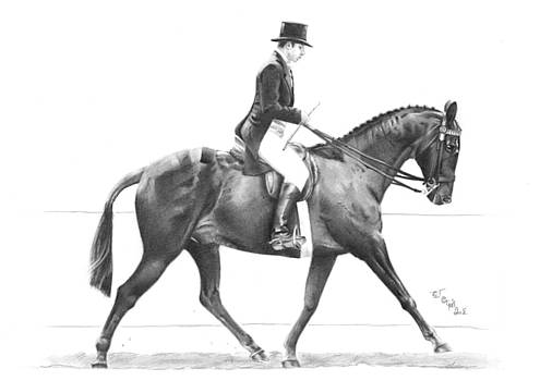 Show horse by Ed Teasdale