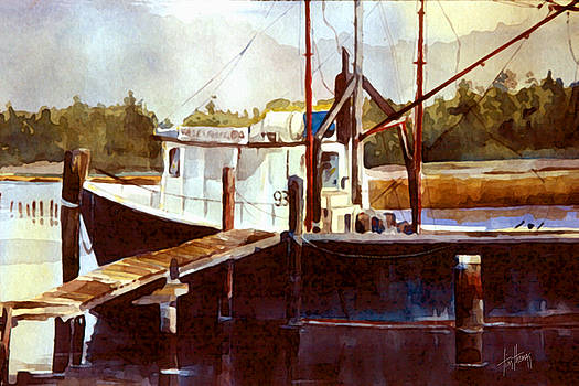 Shrimp Boat at Eden by Tim Thomas