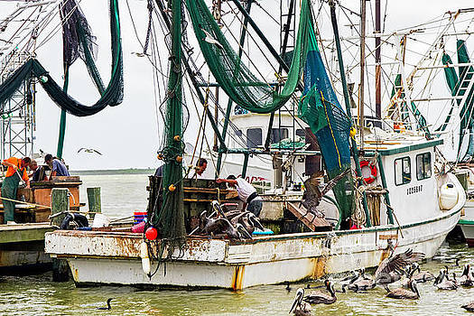 Shrimp Boats a-Coming by Gary Holmes