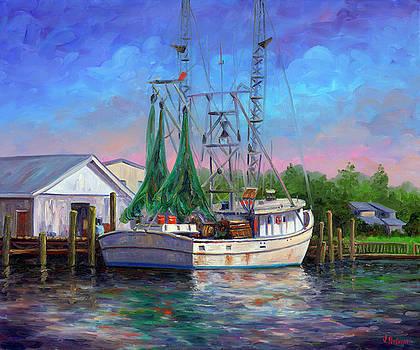 Shrimper at Harbor by Jeff Pittman