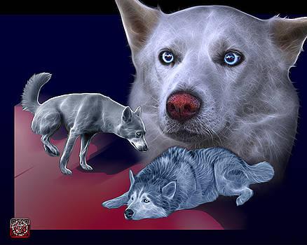 Siberian Husky - Modern Dog Art - 0002 by James Ahn