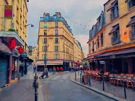 Side Street in Paris by John Rivera