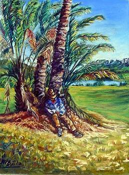 Siesta under the palms by Marieve Ortiz