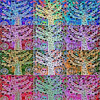 SILBERZWEIG - Star Of David Fruit Tree -   by Sandra Silberzweig