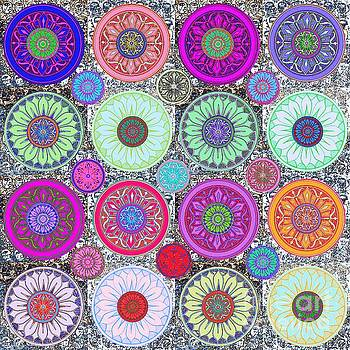 SILBERZWEIG - Karma Mandela - Ruby Violet - by Sandra Silberzweig