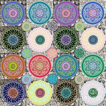 SILBERZWEIG - Karma Mandela - Sage Blush - by Sandra Silberzweig