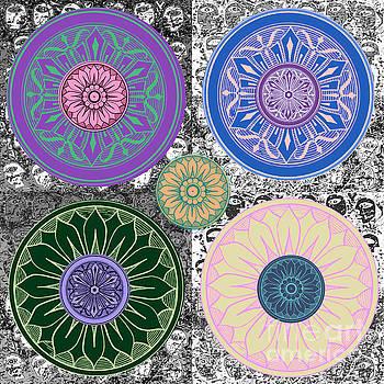 SILBERZWEIG - Karma Mandela - Sapphire Rose - by Sandra Silberzweig