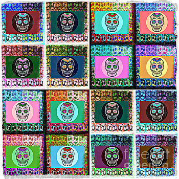 SILBERZWEIG - Sugar Skull Mosaic -  by Sandra Silberzweig