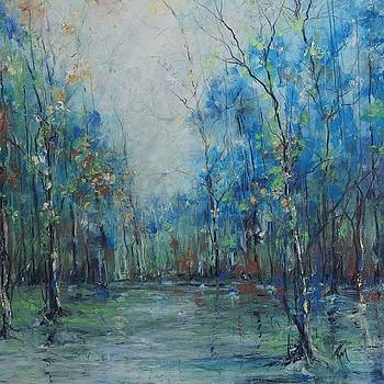 Silent Reflections in Blue by Robin Miller-Bookhout