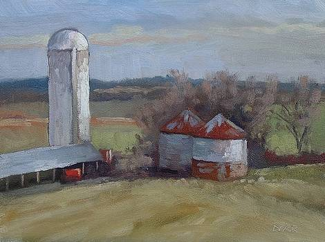 Silo And Grain Bins by Todd Derr