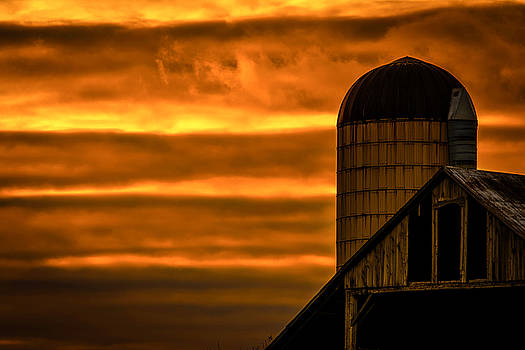 Silo Sunset by Karl Anderson
