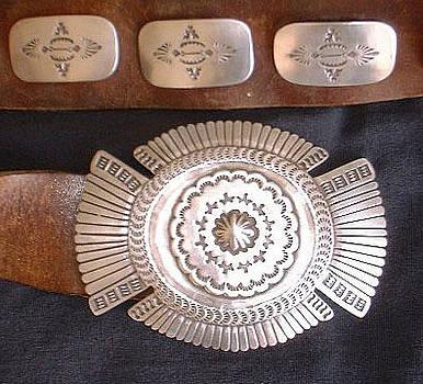 Silver Concho Belt by Eddie Romero